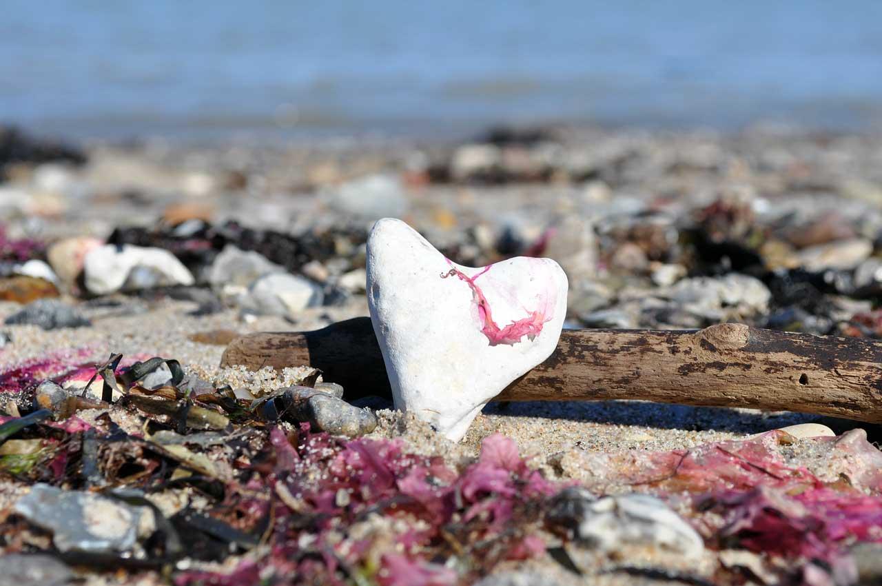 natürliches Herz Ostsee