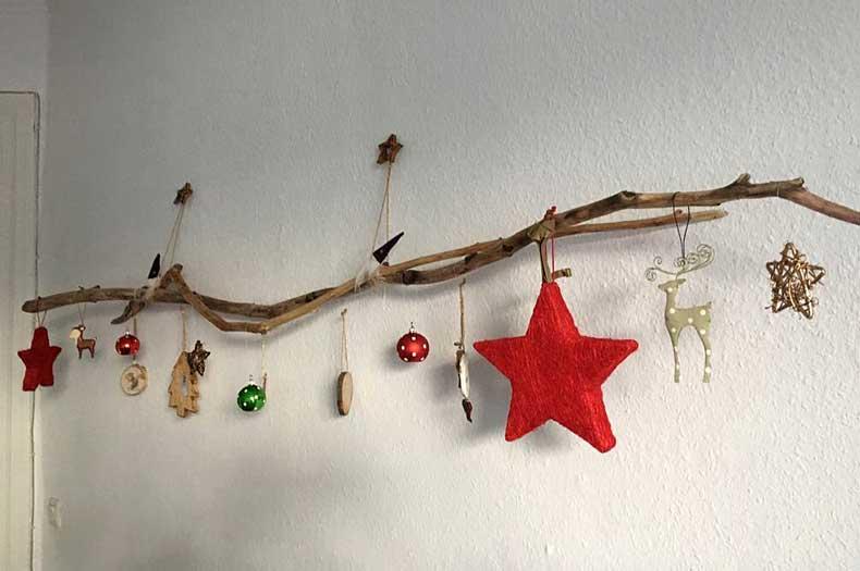 Treibholzeffekt diy treibholz deko zur weihnachtszeit - Weihnachtsdeko ast ...