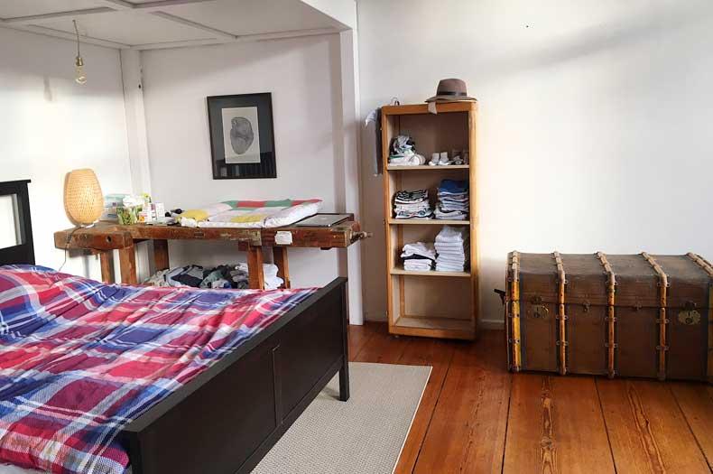 Interior Design im Schlafzimmer mit antiken Möbeln