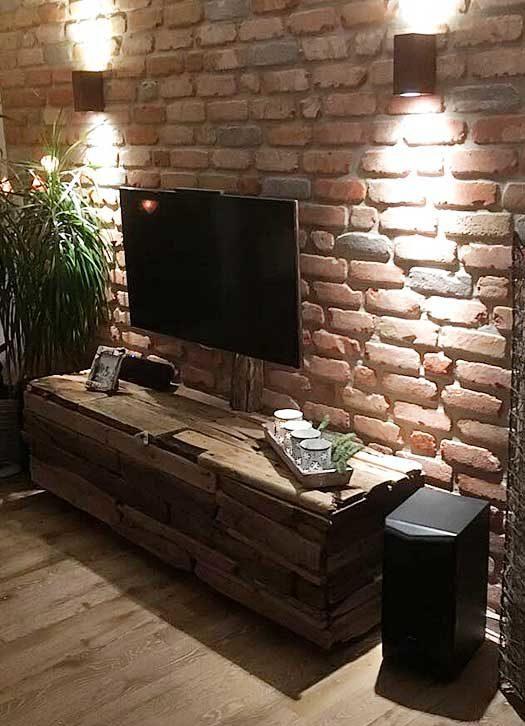 DIY TV-Schrank Treibholz Möbel selber bauen