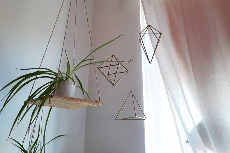 Deko mit geometrischen Formen, den Himmelis