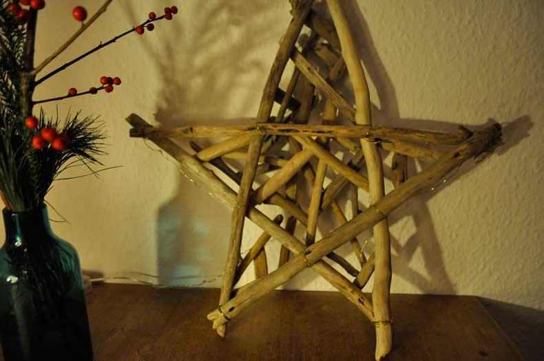 Treibholzeffekt deko aus treibholz stern adventskranz adventsgesteck adventsdeko weihnachten - Weihnachtsdeko treibholz ...