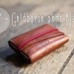 Geldbörse aus Leder selber basteln ohne Nähen